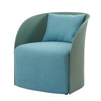 单人沙发简约现代ins休闲椅创意靠背椅北欧布艺老虎椅洽谈沙发椅