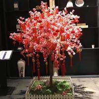 假树仿真桃花树新年装饰假桃树樱花树许愿树室内装饰大型商场室外造景