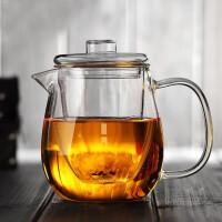 红兔子企鹅玻璃茶壶500毫升耐高温过滤泡茶杯加热泡花茶壶茶具茶器玻璃茶壶家用全玻璃泡茶壶茶具冲茶器大