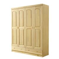 衣柜全实木小户环保二三四门卧室衣橱原木储物衣帽间松木家具定制