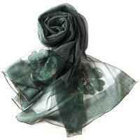 女士真丝围巾羊毛披肩空调房丝巾真丝围巾真丝羊毛丝巾