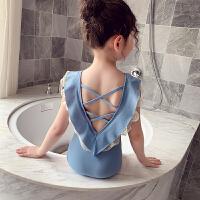 女童泳衣夏装小女孩可爱游泳衣洋气连体泳衣儿童泳装