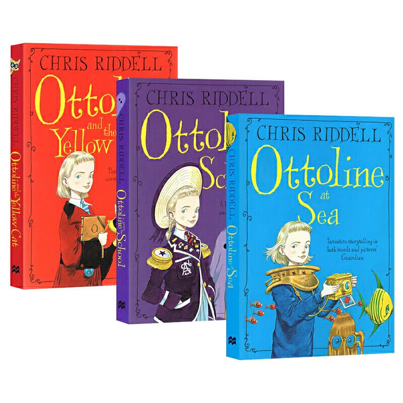 英文原版小说 Ottoline at Sea 不可思议的学校-小侦探欧杜琳 3册套装桥梁章节书 Chris Raddell