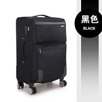 拉杆箱万向轮旅行箱包20寸登机箱密码拖箱行李箱24寸男女28寸箱子 黑色 711 20寸/短期旅行出差