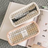 韩国简约透明铅笔袋创意可爱小清新学生文具盒女高中生韩版文具袋