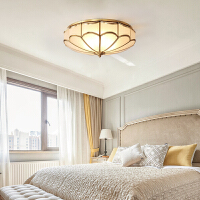 欧式吸顶灯全铜led简约现代主卧室过道走廊家用灯具温馨