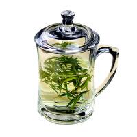 【加厚防裂】无铅耐热玻璃杯带盖杯家用杯子加厚泡茶水杯带把茶杯 图片色