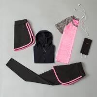 时尚瑜伽服女童舞蹈运动健身夏短袖形体速干衣少儿童练功羽毛速干服