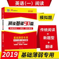 2019考研英语(一)阅读恶补基础 阅读基础90篇 真题1986-2017