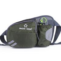 跑步腰包男户外运动骑行水壶包多功能旅行手机登山包女马拉松腰袋 墨绿色