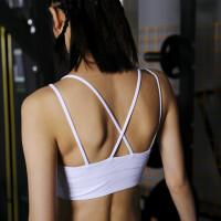 细肩带美背运动文胸防震聚拢定型健身内衣女bra防下垂瑜伽背心