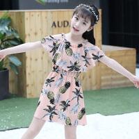 童装女童吊带连衣裙夏装2018新款韩版小女孩洋气儿童雪纺公主裙子