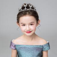 儿童演出服配饰小女孩生日发箍女童镶钻皇冠花童礼服配饰花环