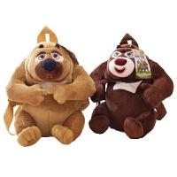 熊大熊二熊出没公仔儿童背书包幼儿园小班男女宝宝双肩包
