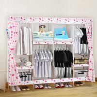 衣柜简易布衣柜加粗加固实木组装牛津布艺布衣柜子简约现代经济型