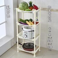 厨房家用小型塑料置物架多层 厨房置物架水果蔬菜架厨房用品锅电饭煲收纳架储物架塑料落地层架