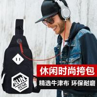 韩版胸包男士斜挎包休闲单肩包时尚潮流小跨包个性背包欧美运动包