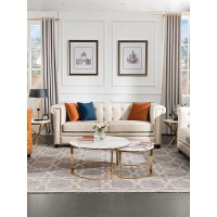 美式轻奢真皮沙发头层牛皮复古油蜡皮别墅小户型客厅沙发