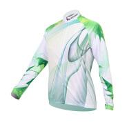 XINTOWN绿光女款骑行服长袖套装自行车服春秋季吸湿排汗速干衣
