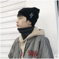 帽子男冬天潮韩版青年学生毛线帽保暖针织帽子百搭套头护耳棉帽