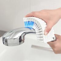 可弯曲浴室瓷砖刷衣服清洁刷子洗衣刷浴缸刷厨房水龙头墙角刷 颜色随机