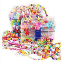 女孩DIY手工糖果串珠玩具儿童益智制作编织手链项链弱视训练串珠子