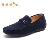 红蜻蜓男鞋春季新款休闲鞋时尚方头豆豆男鞋套脚舒适户外男休闲鞋
