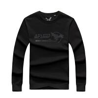 战地吉普男士圆领卫衣 2017秋冬新款男套头字母印花长袖T恤 韩版学生卫衣外套F3227