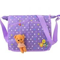 卡通可�叟�孩斜挎包�和�包包�渭缧笨缧�W生��包女童�a�袋作�I包 �\紫色 紫色�c�c