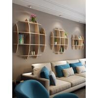 20190807024929056博古架实木格子架创意电视背景墙壁书架装饰客厅壁挂墙上置物架