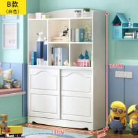 书柜实木书架落地置物架简约现代学生书橱创意韩式客厅收纳柜
