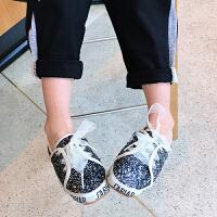 夏季女童鞋子儿童女休闲鞋2018韩版新款板鞋百搭单鞋女孩运动鞋潮