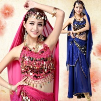 肚皮舞套装演出服 新款肚皮舞练习服 印度舞蹈服装演出服 均码