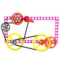 儿童齿轮玩具 科学机械科普益智玩具皮带轮辘轳拼装传动小实验