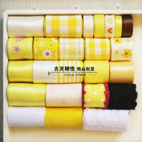 辉盛阁韩国手工DIY丝带黄色发饰品发夹配件超值 蝴蝶结材料包