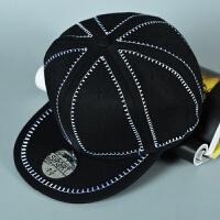 平沿帽光板棒球帽男女嘻哈街舞帽韩版潮平檐帽新款