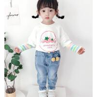 女童牛仔裤春秋儿童洋气外穿长裤小童春装女宝宝春款裤子