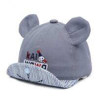 宝宝鸭舌帽翻檐卡通透气帽子棒球帽遮阳帽幼儿棉帽单帽