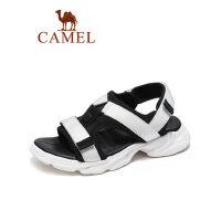 camel骆驼男鞋2019夏季新品时尚复古厚底魔术贴凉鞋透气减震运动潮鞋