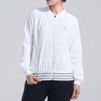adidas阿迪达斯女子外套夹克飞行领休闲运动服DM5296