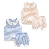 婴儿套装季宝宝季休闲外出衣服7新生儿春款1岁潮两件套新年
