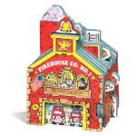 【中商原版】迷你屋系列 消防站 纸板书 英文原版 Mini House Firehouse Co. No. 1 儿童玩