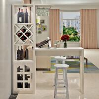 简约现代家用吧台桌酒柜组合客厅隔断柜餐厅间厅柜玄关柜靠墙吧台