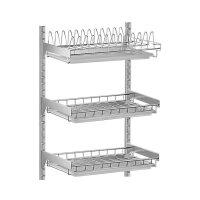 壁挂免打孔碗碟架 304不锈钢沥水架 厨房晾碗架盘子架收纳置物架