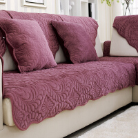 寒号鸟毛绒沙发垫布艺冬季欧式简约法兰绒防滑皮沙发套巾坐垫定做