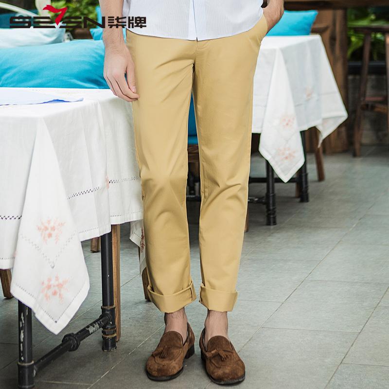 柒牌休闲裤男装春夏纯棉男士时尚休闲长裤子男修身长裤子男