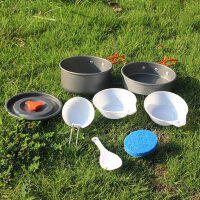 户外套锅户外锅野营炊具锅具 便携套装露营装备多人户外用品