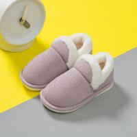 儿童棉拖鞋女保暖居家防滑女童室内宝宝厚底包跟男童
