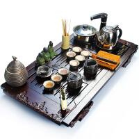 尚帝 檀香木汝窑功夫茶具套装 四合一电磁炉整套茶具陶瓷套装ZT-FTT4K