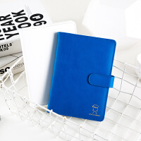 广博B6皮面记事本文具笔记本子学生迪士尼唐老鸭蓝色IQT11202
